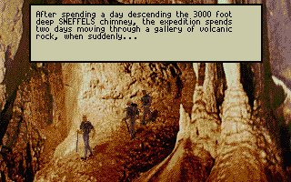 Pantallazo de Journey to the Centre of the Earth para Atari ST