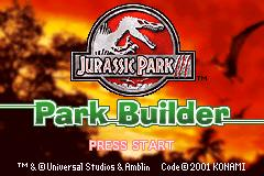 Pantallazo de Jurassic Park III: Park Builder para Game Boy Advance