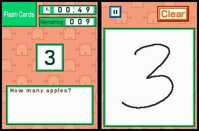 Pantallazo de Kageyama's Maths Training: The Hundred Cell Calculation Method para Nintendo DS