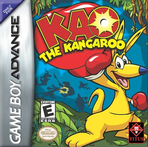 Caratula de Kao the Kangaroo para Game Boy Advance