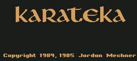 Pantallazo de Karateka para Commodore 64