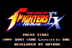 Pantallazo de King Of Fighters EX - Neo Blood (Japonés) para Game Boy Advance