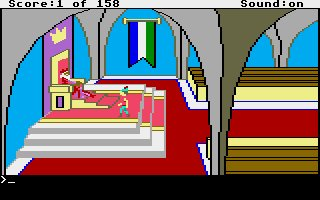 Pantallazo de King's Quest: Quest for the Crown para Atari ST