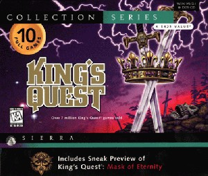 Caratula de King's Quest Collection 2 para PC