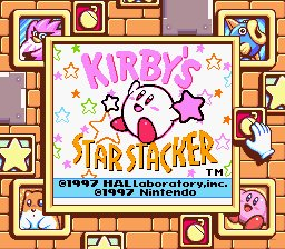Caratula de Kirby's Star Stacker para Game Boy