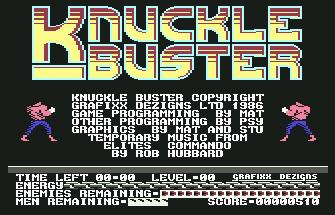 Pantallazo de Knuckle Busters para Commodore 64