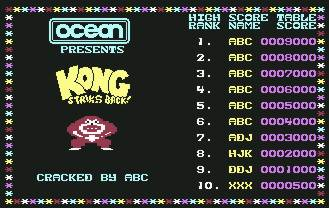 Pantallazo de Kong Strikes Back para Commodore 64