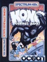 Caratula de Kong Strikes Back para Spectrum