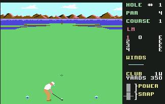 Pantallazo de Leaderboard Golf para Commodore 64