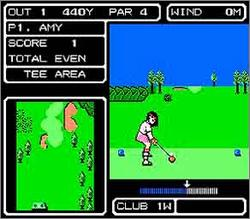 Pantallazo de Lee Trevino's Fighting Golf para Nintendo (NES)