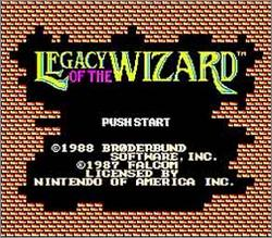 Pantallazo de Legacy of the Wizard para Nintendo (NES)
