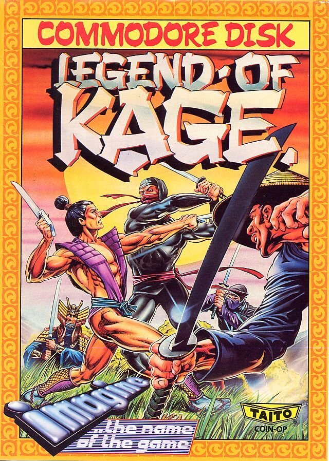 Caratula de Legend of Kage para Commodore 64