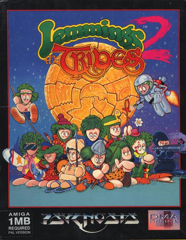 Caratula de Lemmings 2: The Tribes para Amiga