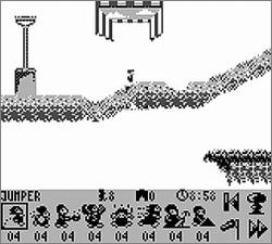 Pantallazo de Lemmings 2: The Tribes para Game Boy