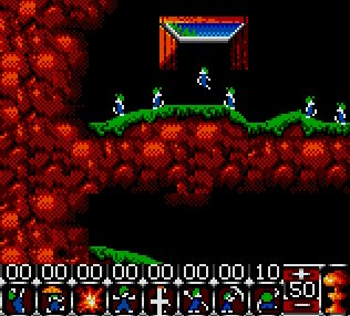 Pantallazo de Lemmings para Gamegear