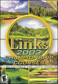 Caratula de Links 2003 Championship Courses para PC