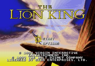 Pantallazo de Lion King, The para Sega Megadrive