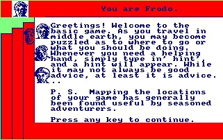 Pantallazo de Lord Of The Rings para Amstrad CPC