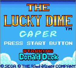 Pantallazo de Lucky Dime Caper Starring Donald Duck, The para Gamegear