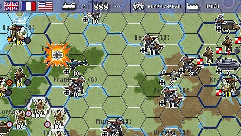 Pantallazo de MILITARY HISTORY Commander Europe at War para PSP
