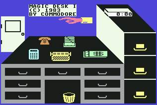 Pantallazo de Magic Desk para Commodore 64