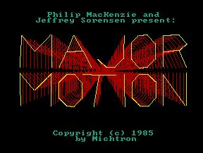 Pantallazo de Major Motion para Atari ST