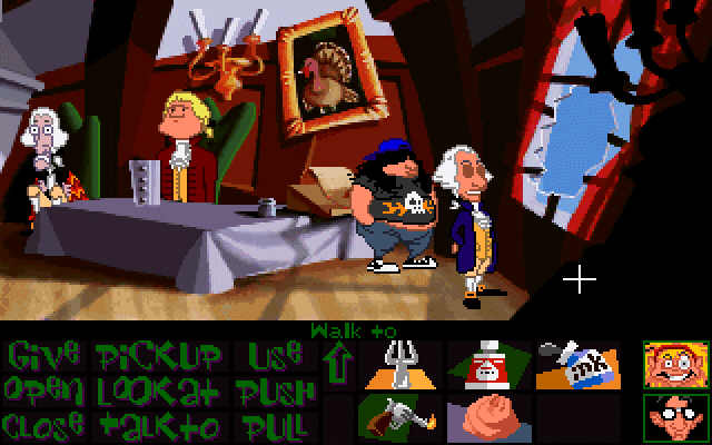 Pantallazo de Maniac Mansion: Day of the Tentacle para PC
