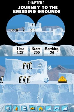Pantallazo de March of the Penguins, The para Nintendo DS