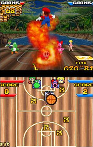 Pantallazo de Mario Hoops 3-on-3 para Nintendo DS