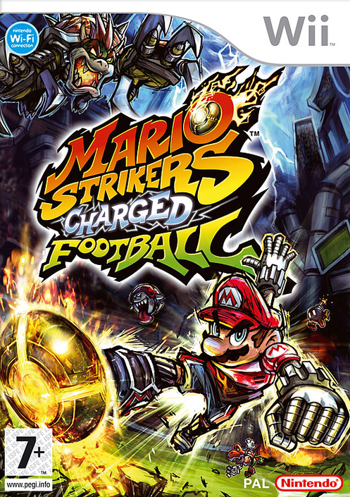 Caratula de Mario Strikers Charged Football para Wii