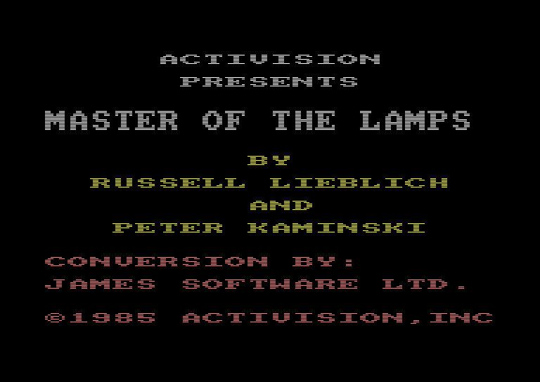 Pantallazo de Master of the Lamps para Amstrad CPC