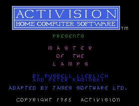 Pantallazo de Master of the Lamps para MSX