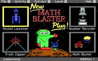 Pantallazo de Math Blaster Plus! para PC