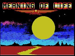 Pantallazo de Meaning of Life, The para MSX