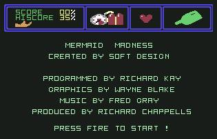 Pantallazo de Mermaid Madness para Commodore 64