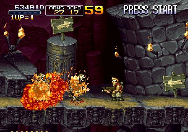Pantallazo de Metal Slug Anthology para Wii
