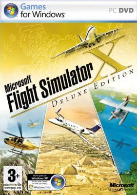 Caratula de Microsoft Flight Simulator X: Deluxe Edition para PC