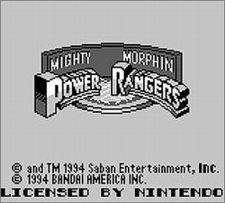 Pantallazo de Mighty Morphin Power Rangers para Game Boy