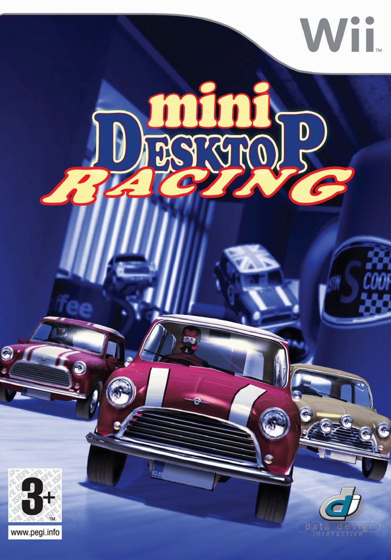 Caratula de Mini Desktop Racing para Wii