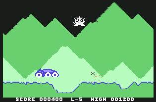 Pantallazo de Moon Buggy para Commodore 64