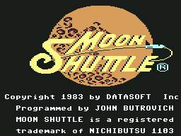 Pantallazo de Moon Shuttle para Commodore 64