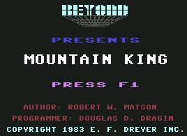 Pantallazo de Mountain King para Commodore 64