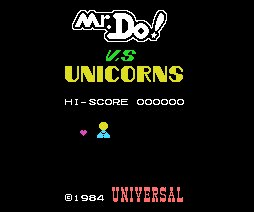 Pantallazo de Mr. Do vs. Unicorns para MSX