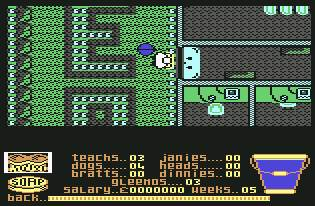 Pantallazo de Mrs. Mop para Commodore 64