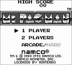 Pantallazo de Ms. Pac-Man para Game Boy
