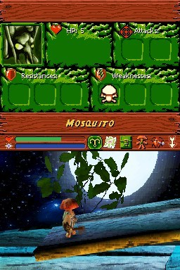 Pantallazo de Mushroom Men Rise of the Fungi para Nintendo DS