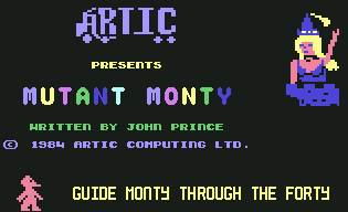 Pantallazo de Mutant Monty para Commodore 64
