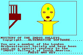 Pantallazo de Mystery Of The Indus Valleys para Amstrad CPC