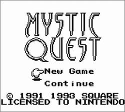 Pantallazo de Mystic Quest para Game Boy