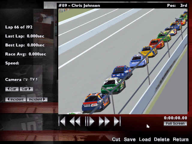Pantallazo de NASCAR Racing 1999 Edition para PC